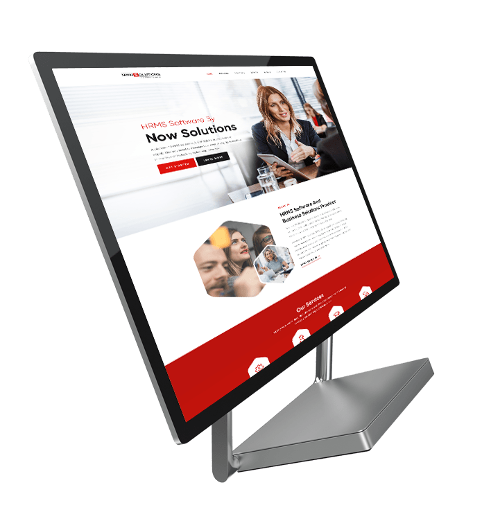 homepage design for nowsolutions