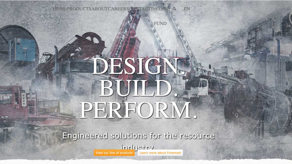foremost old design homepage