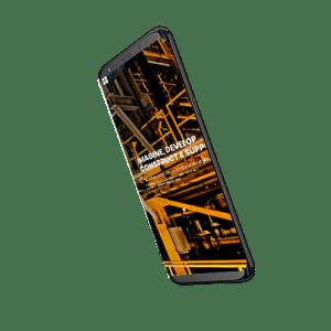 mobile mockup website design quad
