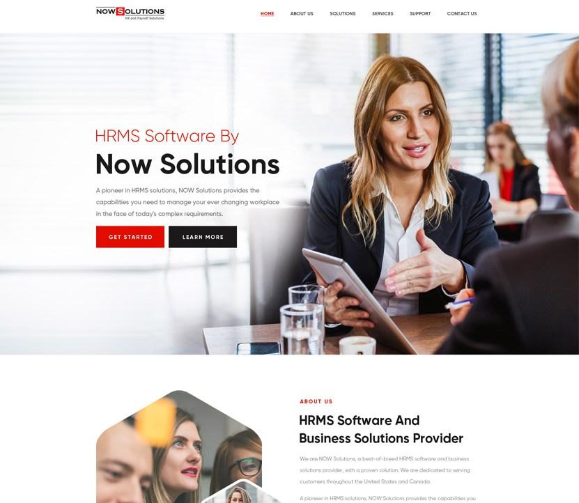 nowsolutions new website design look