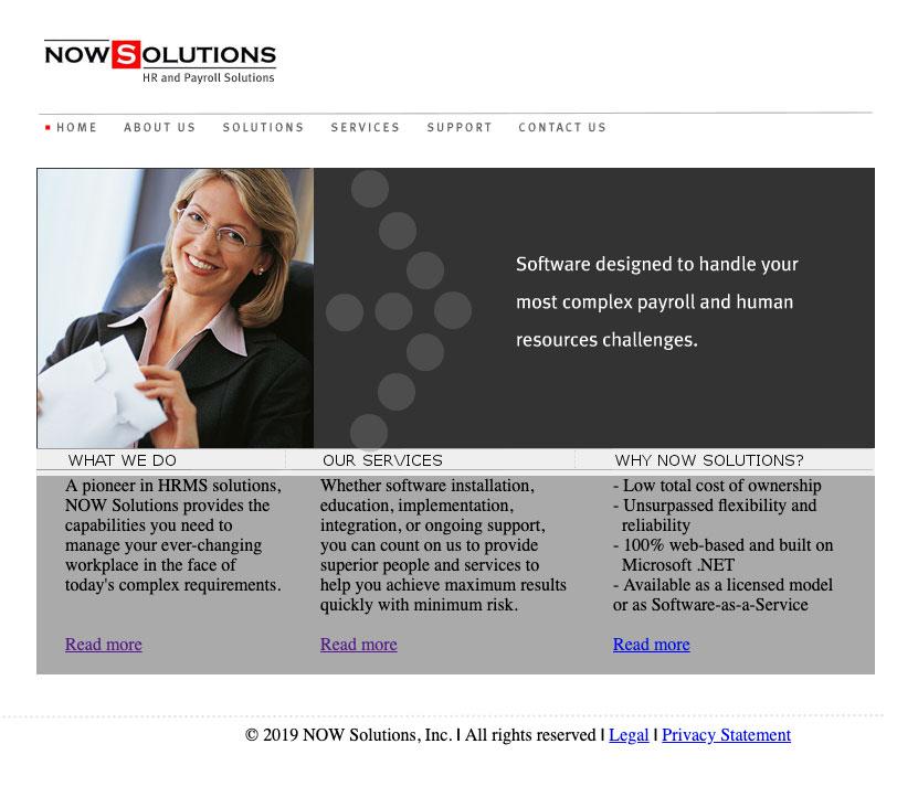 nowsolutions old website design look