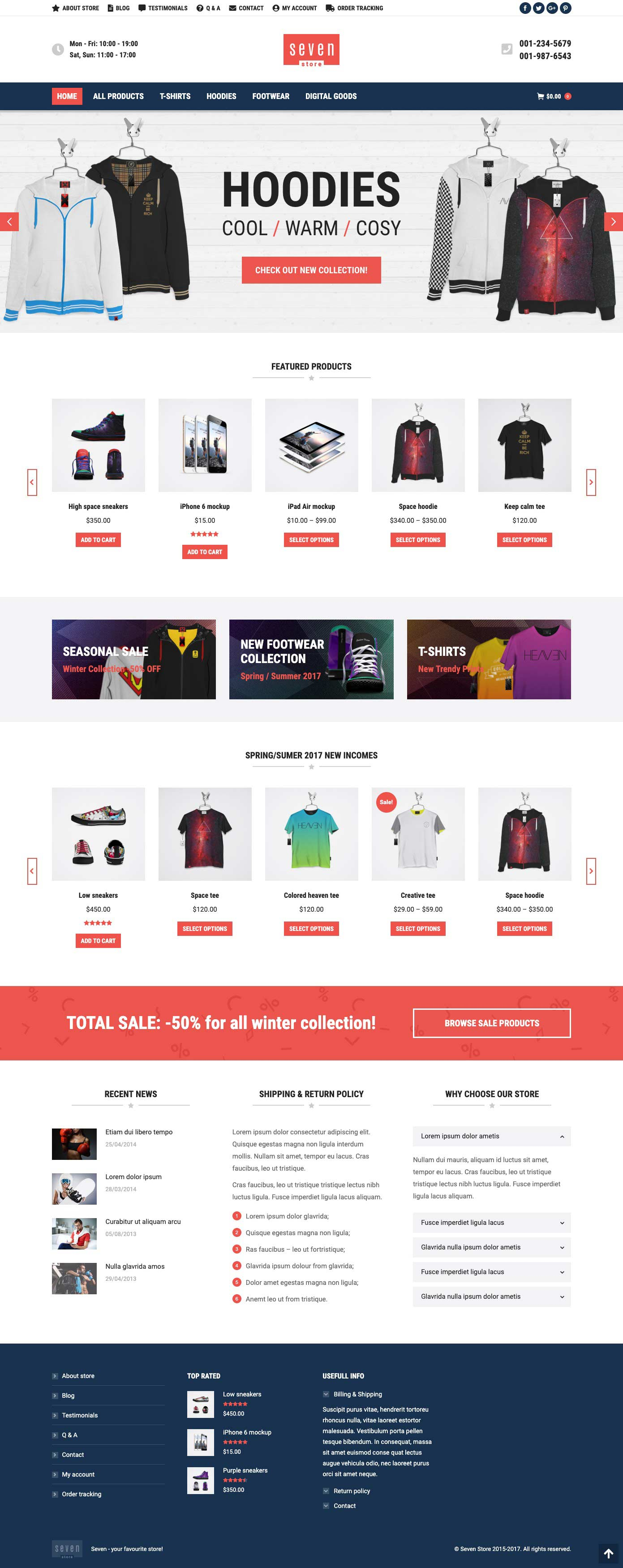ecommerce business web design sample