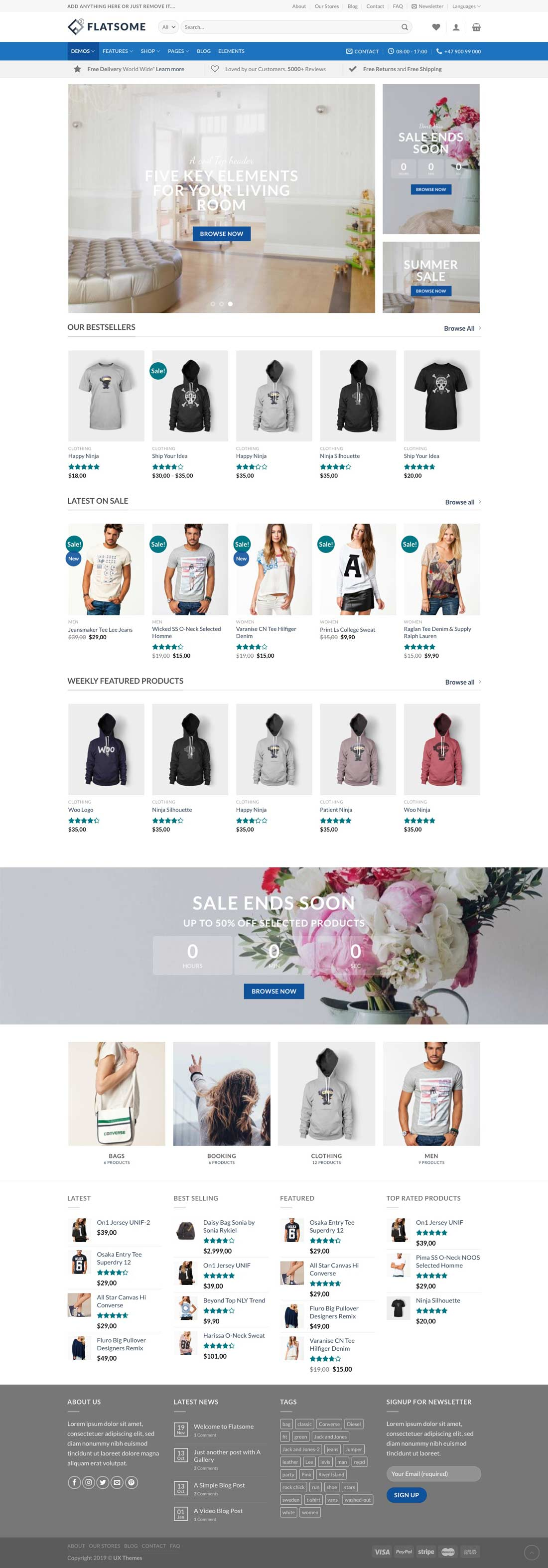 ecommerce website design sample