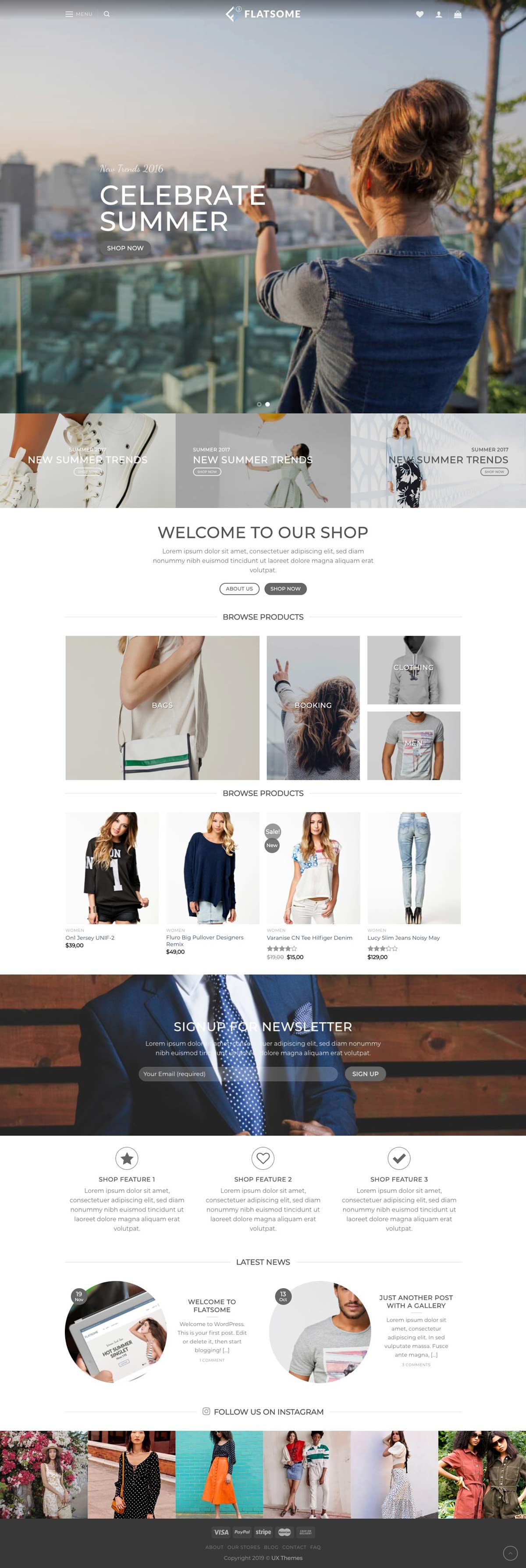 ecommerce modern web design sample