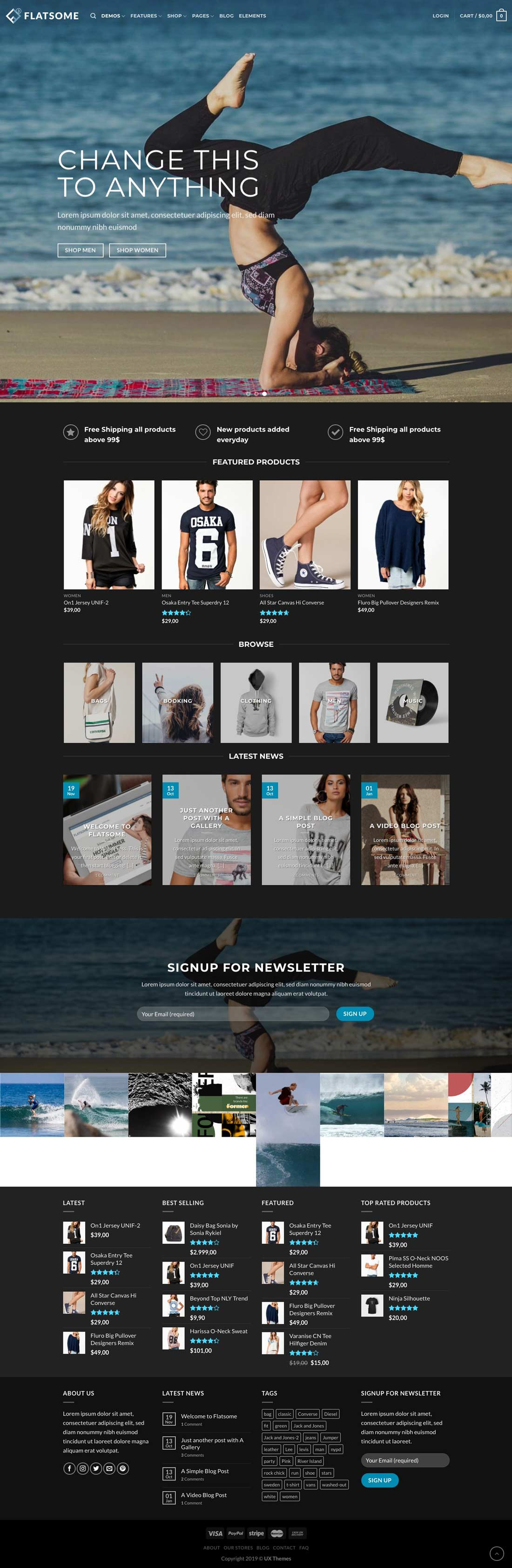 ecommerce web design sample