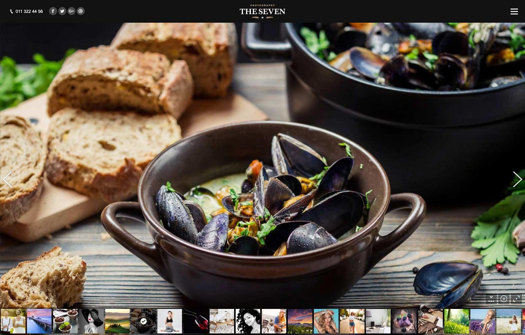 restaurant website design sample