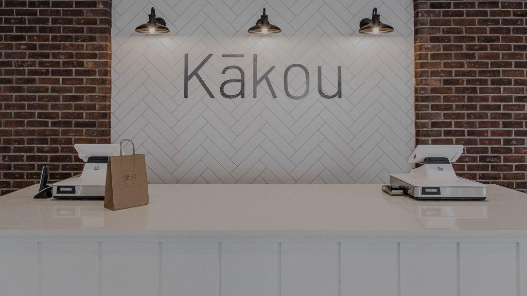inside kakou store checkout