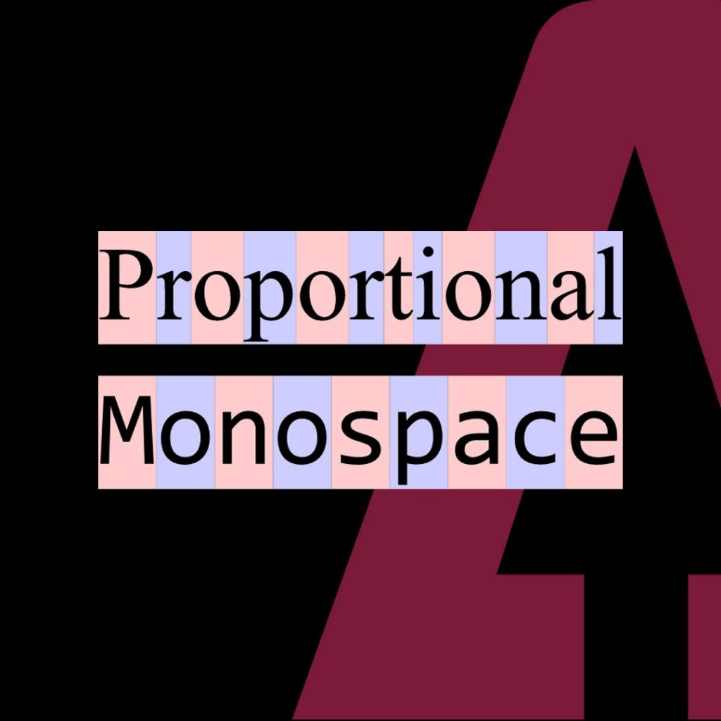 Monospace font style