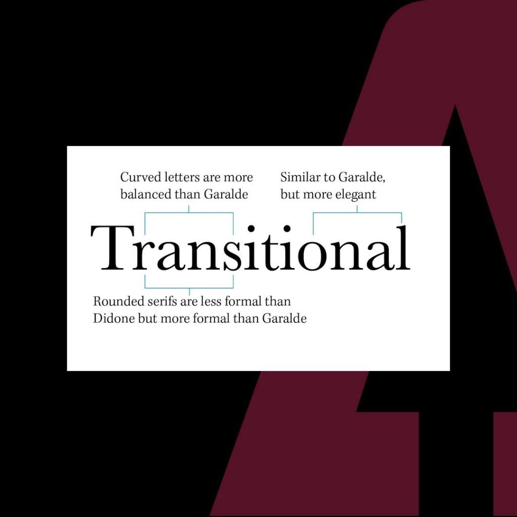 Transitional Serif font