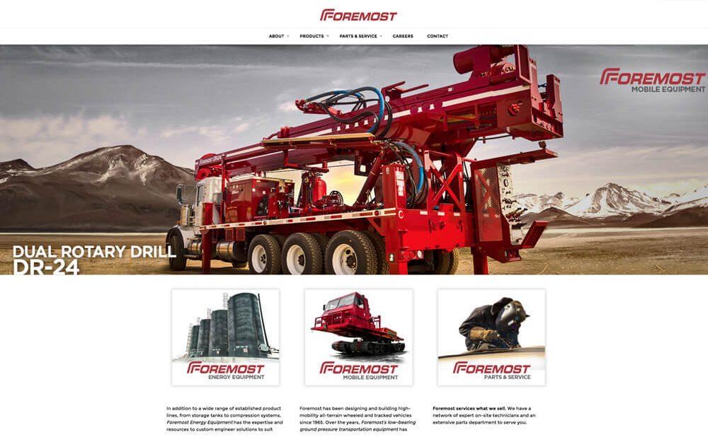 foremost website design homepage